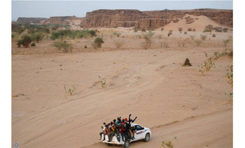 Migrants crossing the Sahara desert into Libya from Agadez, Niger (Joe Penney/Reuters)