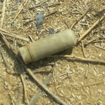 A tear gas cannister used by riot police against residents who protested the demolition of El Salam district in Kassala town, on 30 September and 1 October (RD)