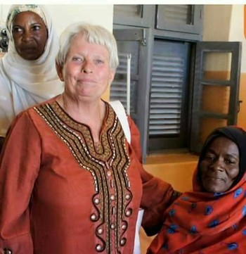 Swiss aid worker Margaret Schenkel in North Darfur (file photo)