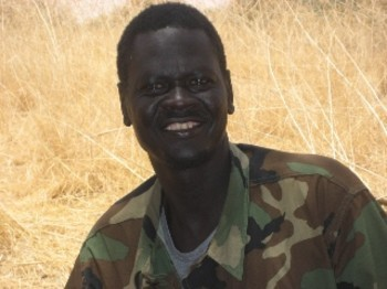 Vice-President of the Justice and Equality Movement (JEM) Ibrahim El Maaz Deng (RD)