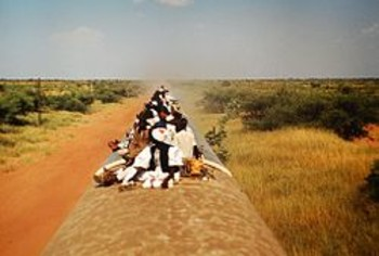 A train travelling from Sudan's Babanusa to Wau in South Sudan (file photo)