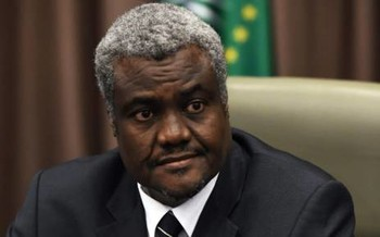 Moussa Faki Mahamat from Chad, chairman of the AU Commission (AFP)