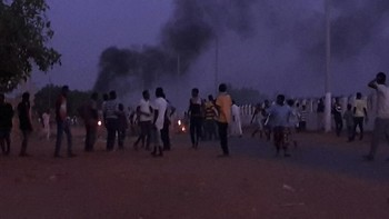 Last year's protest against the sale of land in El Jireif East in Khartoum on 18 May 2016 (RD)