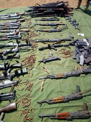 Collected weapons in the currently ongoing arms collection campaign in Darfur (RD)