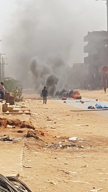 Protests against the sale of land and demolition of brick factories in El Jireif East, Khartoum, on 27 November (RD)