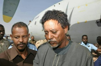 Musa Hilal arrives in Khartoum after his arrest in North Darfur in November 2017 (File photo: RD)