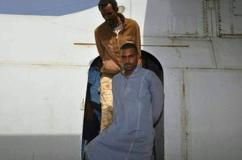 Musa Hilal's sons following their arrest in November 2017 (RD)