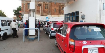 Queing at a petrol station (file photo)