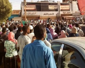 Popular protests in Khartoum this week (File photo: RD)