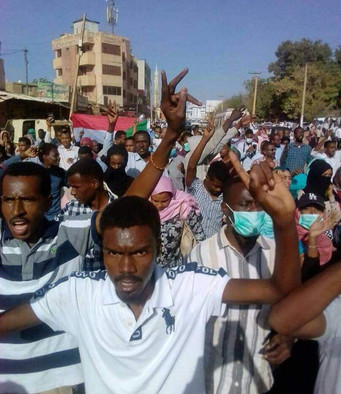 Protest in Omdurman on 17 January (RD)
