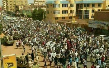 A mass protest in Khartoum in January 2018 (File photo: RD)