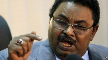 Salah Abdallah (also known as Salah Gosh), the head of the Sudanese security apparatus NISS (AP)