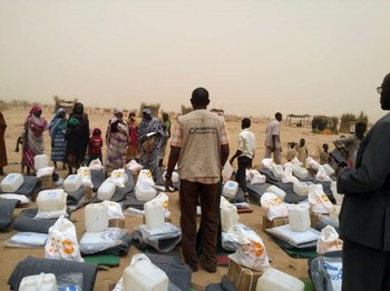 Winter non-food items distributions in Jebel Marra (UNHCR, 2017)