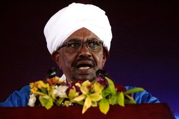 President Omar Al Bashir addresses the nation during the 62nd Anniversary Independence Day, December 31, 2017 (Reuters)
