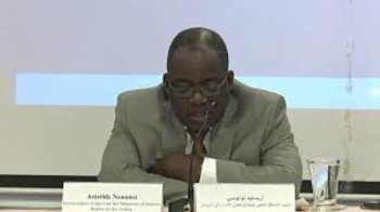 UN Independent Expert on the Situation of Human Rights in Sudan, Aristide Nononsi (AFP)