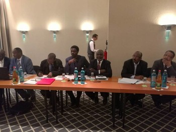 Consultations on the pre-negotiation process between the SLM-MM, JEM, and the Sudanese government in Berlin on 16 April 2018 (RD)