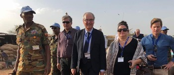 Delegation of EU ambassadors and deputy-ambassadors to Sudan in Abyei on April 18, 2018 (RD)