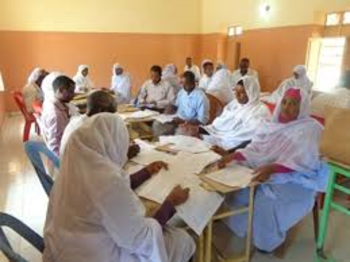 Correcting exams in Khartoum (file photo)