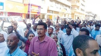 A street protest in Khartoum on December 25, 2018 (RD)