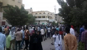 Protests in Port Sudan on January 3, calling for the ouster of President Omar Al Bashir (RD file photo)