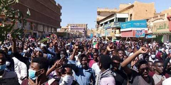 The Omdurman mass protest on January 9 (RD)