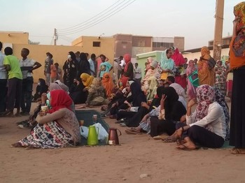 Protestors hold a sit-in in Khartoum to call for the step down of Omar Al Bashir and his regime, January 28, 2019 (Social media)