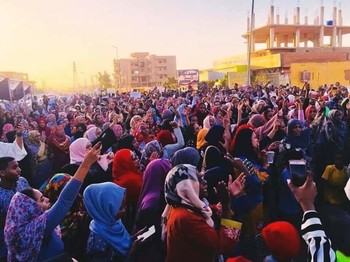 Mass public protest in Sudan (File photo)