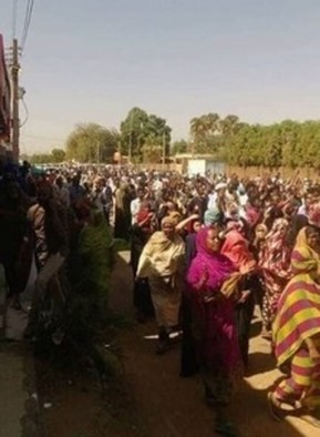 Demonstration in support of women detainees, Omdurman, February 10, 2019 (RD)
