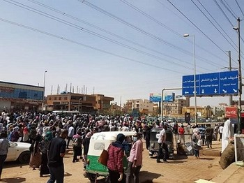Street protest in Khartoum this month (RD)