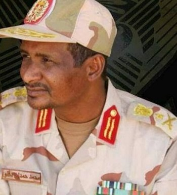 Lt Gen Mohamed Hamdan Dagalo (aka Hemeti), deputy chairman of the Transitional Military Council and chief of the Rapid Support Forces (file photo)