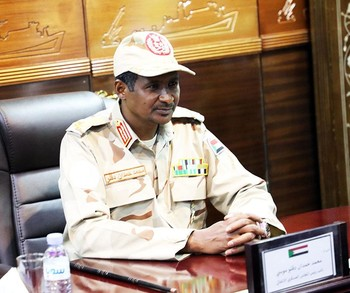 The commander of Sudan's paramilitary Rapid Support Forces (RSF) and effective Vice-President as deputy-head of the Transitional Military Council (TMC), Lt Gen Mohamed Hamdan (aka Hemeti) (File photo: SUNA)