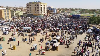 Demonstration in El Fasher, capital of North Darfur, April 25, 2019 (RD)