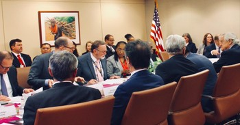 Meeting of the Troika and other countries in Washington DC in May.