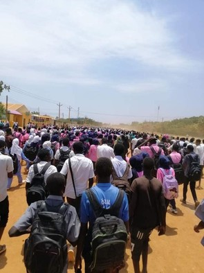Secondary school students demonstrate in Kosti in White Nile state, July 30, 2019 (RD)