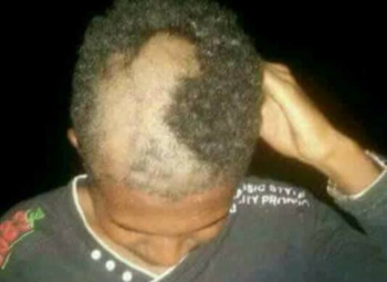 Hair forcibly cut in Port Sudan, July 17, 2019 (Social media)