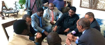 Negotiations between the Forces for Freedom and Change and the Sudan Revolutionary Front in July 2019 in Addis Ababa (Social media)