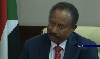 Prime Minister Abdallah Hamdouk during the BBC interview (BBC screenshot)