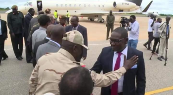 The Sudanese government delegation arrives in the South Sudanese capital for peace talks, Juba, October 13, 2019 (RD)