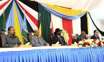 The opening session of the Sudanese peace talks in Juba on 14 October (Sudan Sovereign Council)