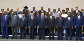 The participants of the first Russia-Africa Summit, Sochi, October 23, 2019 (Kremlin)