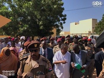 Prime Minister Hamdok after his visit to the El Fasher Teaching Hospital (Sudan 24 TV via Social media)