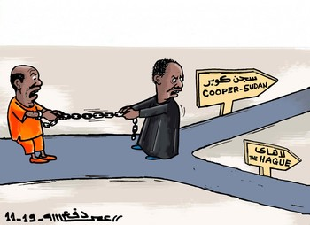Cartoon by Omar Ahmed for Radio Dabanga