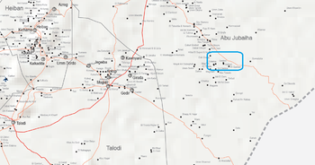 The area of Gedied in Abu Jubeiha (OCHA map of South Kordofan)