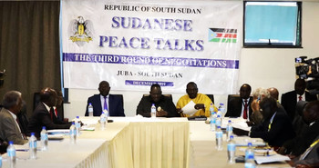 Third round of peace talks in Juba (File photo)