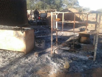 The Kerending camp for the displaced in El Geneina burned to ashes, December 31, 2019 (RD)