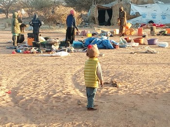 The recently displaced people in El Geneina (file photo RD)