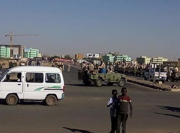Sudan Armed Forces contain the situation in Khartoum, January 14, 2020 (Social media)