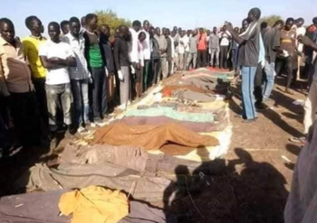 Victims of the attack on Kolom in the disputed region of Abyei (Social media)