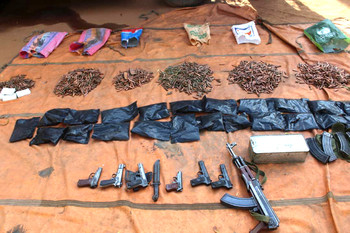 Arms and explosives cache, allegedly belonging to the Egyptian Muslim Brotherhood, seized in Khartoum Bahri (SUNA)