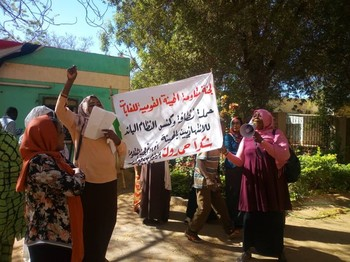 Workers of the National Forest Authority protest against corruption and demand the removal of remnants of the ousted Al Bashir regime (Social media)